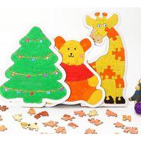 DIY crianças cor em jigsaw quebra-cabeça papel em branco doodle desenho brinquedos educativos crianças cactos borboleta imagem puzzle brinquedo gg12805