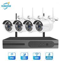 Kits de cámaras inalámbricas WHEEZAN CCTV SISTEMA DE SEGURIDAD KIT 1080P 4CH NVR WIFI VIVIENCIA INICIO INICIO Visión nocturna al aire libre 2TB HDD IP SET1