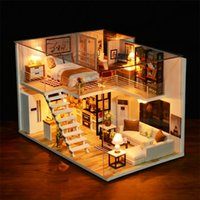 CuteBee دمية منزل أثاث مصغرة دمية diy مصغرة منزل غرفة مربع المسرح لعب للأطفال diy دمية NJXW-B LJ200909