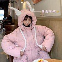 Joinyouth inverno abiti da donna orecchio muoverà la giacca donna 2021 Nuovo cappotto coreano Kawaii Outwear caldo oversize Sweet Femmina Roupas