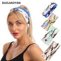 Stricken Tarnung Haar-Band Elastic Fashion Knot Stirnband Haare Accessoires für Frauen Herbst und Winter-Gesichtsmaske Stirnband