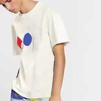 20ss 클래식 3 인쇄 자카드 남자 여성 커플 티 솔리드 컬러 통기성 반팔 Casaul Street 고품질 T- 셔츠 여름