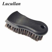 Lucullan mais densa pura premium premium Cabelo de Cavalo interior escova de limpeza para couro, vinil, tecido 201214