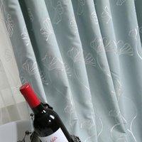 Занавес Drapes Современные простые шторы для гостиной столовой спальня пастырский стиль искусственная хлопчатобумажная ткань вышивка на заказ