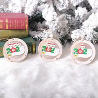 Маска для лица куклы деревянные Рождественский кулон со светом круглые украшения рождественской елки туалетная бумага выживший благословение кулон Dropshipping F7501