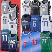 2020 Nouveaux hommes Kevin Kyrie 7 Durant 11 Irving Jersey 77 Luka Krisps Doncic Porzingis Basketball Jerseys