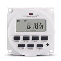 SINOTIMER 220V Semanal 7 días Tiempo digital programable Interruptor de tiempo de retransmisión Control de temporizador para electrodomésticos 8 Configuración de encendido / apagado1