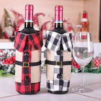 Hot sale Christmas Supplies Red Grill Collar Wine Botte Set ...