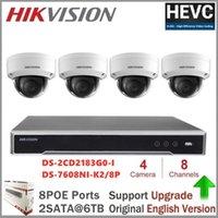 Hikvision نظام مراقبة الفيديو 8MP IP كاميرا Poe Out / Indoor DS-2CD2183G0-I Security Dome Camera H.2651