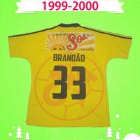 Retro 1999 2000 América Camiseta Vintage Camiseta de Futbol Amarelo 99 00 Liga MX Futebol Camisas México Club League CA