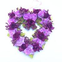 Festival Flor artificial Decoración para el hogar en forma de corazón Guirnalda de la boda Muebles de la boda Amor de los corazones de amor Guirnaldas Nueva Llegada 7 2OY L1