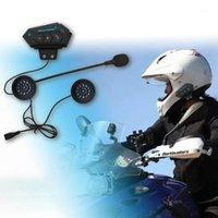 오토바이 인터콤 BT12 헬멧 BT 헤드셋 헤드폰 스피커 지원 핸즈프리 전화 걸기에 대한 응답 1