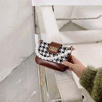 Neue Kinder Plaid Pearl Princess Handtaschen Mode Mädchen Brief Pearl Messenger Bags Kinder Mini Zubehör Tasche Frauen Taschen C6786