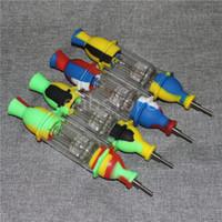 NOUVEAU 190mm phare tuyau silicone silicone tuyaux main paille dab silicone silicone paille conception simple collecteur de nectar de silicium