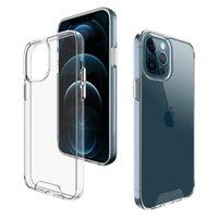 Custodia rigida rigida trasparente spaziale antiurto trasparente per iPhone 12 Pro 11 XR XS 6 7 8 Plus
