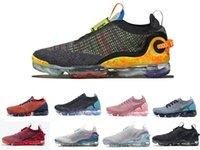 2020 VaporMax 2020 Kadın Erkek Koşu Ayakkabı Fly 2.0 3.0 Örme Üçlü Siyah Beyaz Takım Kırmızı Koyu Gri Saf Platin spor Eğitimciler Spor ayakkabılar