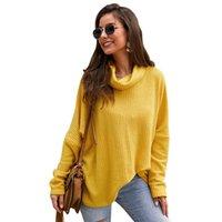 독립 디자인 패션 높은 칼라 여성 의류 가을 겨울 2019 새로운 스웨터 디자인