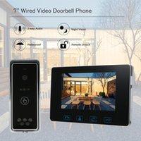 Wired Video Türsprechanlage Videoüberwachung Monitor-Türsprechstellen Kamera Kits wasserdichte Unterstützung entriegeln Überwachung Zweiweg-Intercom