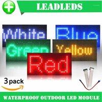 3pcs 32 * 16 방수 P10 단일 색상 P10에 대 한 옥외 빨간색 녹색 노란색 파란색 LED 모듈 P10 LED 메시지 디스플레이 모듈 1