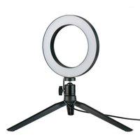 Flash Heads 5.7 pulgadas Mini LED Luz de anillo regulable con soporte trípode para el maquillaje de filmación de video EM881