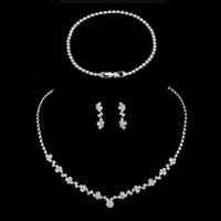 Свадебные свадебные наборы свадебных украшений ожерелье серьги наборы браслета 2021 бренд Deisgner Marquise Cut Cubic Zirconia Crystal женская аксессуары AL8608