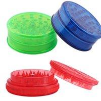 Plastik Ot Öğütücü 60mm Duman Dedektörleri Boru Akrilik Öğütücüler Için Twisty Cam Künt Sigara Aksesuarları için Akrilik Öğütücüler