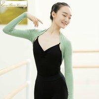 Ballerina Dance Wear Sweater Jaqueta Outono e Inverno Ballet Rastreamento Top Revestimento Pequeno Traje de Proteção de Ombro KG-310