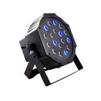 18-LED Red Green Blue Light Voice Control Parcan лампа проектор с пультом дистанционного управления черным для Этап освещения