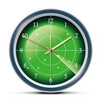 Duvar Saatleri Yeşil Radar Tasarımcı Saat HUD Ekranı Hedef Sanat Uçağı Tarama Hava Trafiği Dekoratif İzle