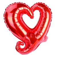 18 zoll Haken Herz Form Aluminiumfolie Ballons Aufblasbare Hochzeit Dekoration Valentinstagtage Geburtstag Baby Dusche Luftballone EEF3912