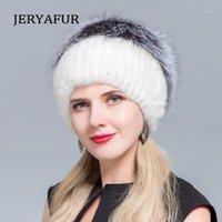 Шапочки / черепные колпачки Jeraafur Женские норковые шапки 11