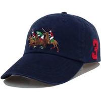 2021 POLO Caps Designers di lusso Cappello da papà Berretto da baseball per uomini e donne Marchi famosi Cotton Skull Sport Sport Golf curvo Sunhat