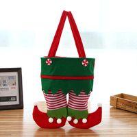 Новые рождественские штаны сумка Нового Рождество Сант Эльф Дух штаны Чулки сумка Лечить карманные конфеты бутылки подарки Сумка Present