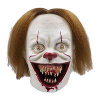 Силиконовая Movie Стивена Кинга Это 2 Joker Pennywise анфас Horror Клоуна Латекс маска Halloween Party Ужасного Косплей Prop Маска EEE2569