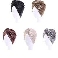 Donne musulmane cappello turbante knot torsione turbante africano africano headwrap headies accessori per capelli indiano cappello chemio tappo berretto arabo cumulies cappuccio