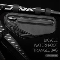 Borse per biciclette MTB Road Mountains Bike Front Frame BAG BAMBINO BAGNO ACQUISME APPROSCIALE TOP TUBO RIFLETTO ACQUISTA TRIANGRA AMPERMEABILE