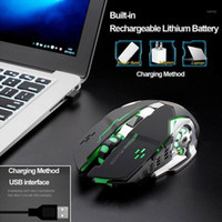 4 Colors LED Backlit Rechargeable Wireless Silent USB Optica...
