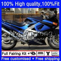 Inyección para Kawasaki ZZR-400 ZZR600 ZZR400 93 95 96 97 98 99 54hm.0 ZZR 400 600 1993 1994 1995 1996 1997 1998 1999 Failings Factory Blue