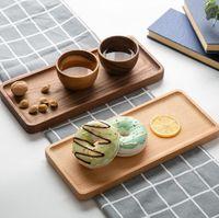 Walnut Buchenholz Quadratisch Rechteck Holz Kuchen Geschirr Home Hotel Schule Dessert Serviertablett Holz Sushi Plate SN1614