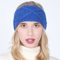 Stricken Einfarbig Diamant Stirnband breite Stretchy Stirnband-Haar Bohemian Hairwrap Kappe für Frauen Mode-Accessoires werden und sandige neue