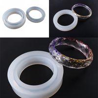 Bracelet en forme de rhomboïde Moule en résine époxy silicone mince largeur deux types de bijoux fabriqués à la main Brocelets Moules Nouvelle arrivée 4 5M L2