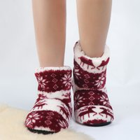 2021 الشتاء أحذية الطابق امرأة منزل النعال عيد الميلاد الأيائل داخلي الجوارب الأحذية الدافئة الفراء contton النعال أفخم نعل المضادة للانزلاق وحيد