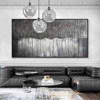 Gran tamaño abstracto paisajes hechos a mano pinturas al óleo sobre lienzo 100% pintado a mano arte moderno de la pared para la sala de estar decoración del hogar