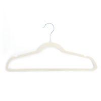 Ücretsiz kargo üreticisi toptan 10 adet 45 0.5 24.5 plastik akın elbise askıları fildişi beyaz