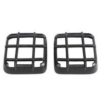 Siyah ABS Kuyruk Işık Lambası Kapak Trim Dekor Çerçeve Wrangler JL 18-201 için