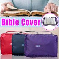 스토리지 가방 대형 성경 공부 책 거룩한 커버 케이스 캐리 가방 보호 캔버스 핸드백 유대교