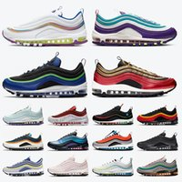 nike air max 97 max air 97 airmax air 97 Free Run 2020 nuove donne Mens scarpe da corsa AirMaxSneakers Designer AirMax bianco iridescente blu viola Neon Mens Trainers