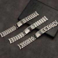 Vente en gros 20mm 22mm Silver Steel Watch Bande de montre pour l'ajustement Omega Strap Sailter Speedmaster Planet Watchband