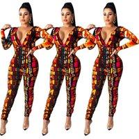 Женщины дизайнерская одежда сексуальный глубокий V-образным вырезом цвет леопардовый принт плиссированный комбинезон мода с длинными рукавами комбинезон колготки дамы Rompers CZ103002