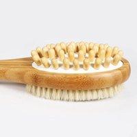 2-in-1-Duschbürste doppelseitige Körperpflege-Massage-Bad-Pinsel mit langen Griff-Scrubs-Bodys Behandlungen Bath1